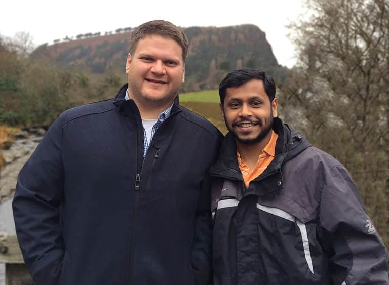 picture of david and shubhanan together