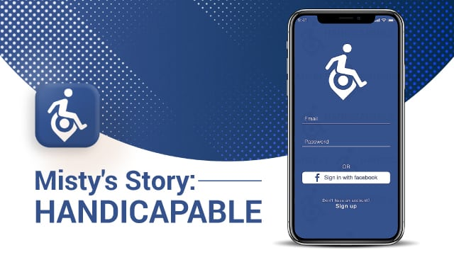 misty's story by handicapable app on the cell phone