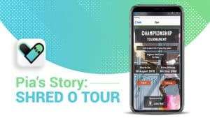 sample of pia's story by shred o tour on a cell phone screen